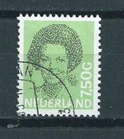 1990 Netherlands 7,50 Gulden Queen Beatrix Used/gebruikt/oblitere - Gebruikt