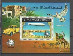 Libya 1977 Mi Block 25A MNH ZEPPELIN - Zeppelins