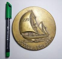 Crest STELLA POLARE - 1965 - COPA DEL REY DE BARCOS DE EPOCA - Marina Militari - Italian Navy - - Barche
