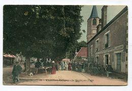 CPA 45 : CHATILLON COLIGNY   Le Marché Aux Fleurs Très Animé   VOIR  DESCRIPTIF  §§§ - Chatillon Coligny