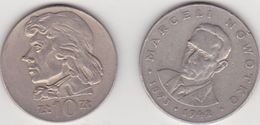 Monnaies De Pologne 10 Zloty 1971  20 1977 - Pologne