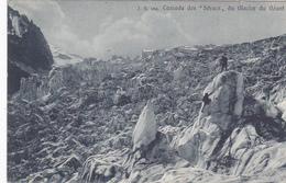 Cpa-74-glacier Du Geant--personnages-cascade Des Seracs- Edi J.B N°164 - Autres Communes