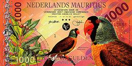 Superbe NEDERLANDS MAURITIUS 1000 Gulden 2016  Mascarin POLYMER UNC - Maurice