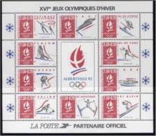 Année 1992 - Feuillet N° 14 - T-P N° 2737 à 2741 - 2679a Et 2780a - 2709a Et 2710a - Jeux Olympiques D'Albertville 92 - Nuovi