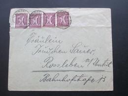 DR Infla 1922 Nr. 183 MeF Mit 4 Marken / 2 Waagerechte Paare! Bürgel - Rossleben - Allemagne