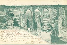 119/26 - TURQUIE SMYRNE - Carte-Vue Aqueduc Du Vallon Ste Anne - TP Germania SMYRNA Deutsche Post 1904 - Turquie