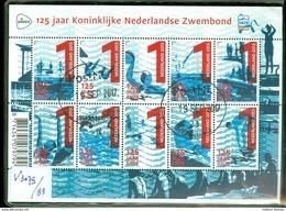 NEDERLAND NVPH  V.3079 - 3088  *   BLOK BLOC * BLOCK * GEBRUIKT *  POSTFRIS GESTEMPELD * NEDERLANDSE ZWEMBOND - 2013-... (Willem-Alexander)