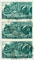 ITALIA, ITALY, REPUBBLICA, COMMEMORATIVO, TRAFORO SEMPIONE, 1956, FRANCOBOLLO USATO, 25 L. .    Sass. 797   Scott 709 - 6. 1946-.. Repubblica