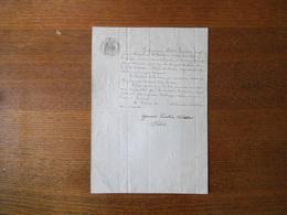 TAVERNY DECEMBRE 1870  DESIR HUMBERT JOSEPH ANCIEN CHASSEUR AU 3ème BATAILLON D'INFANTERIE LEGERE D'AFRIQUE - Manuscripts