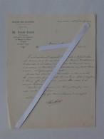BRAZEY-EN-PLAINE (21): Lettre à En-tête 1894  MOULINS DES BATTEURS - TISSOT - Agent Mutuelle De L'Ouest - France