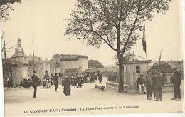 CONCARNEAU - La Place Jean-Jaurès Et La Ville-Close  52 - Concarneau