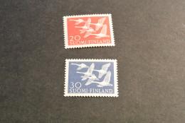 K14499- Set Mint Hinged Finland 1956- SC. 343-344- Whooper Swans - Swans