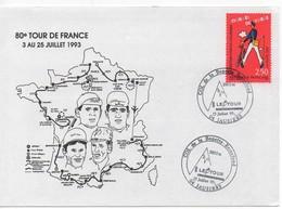 ENVELOPPE SOUVENIR 80E TOUR FRANCE 1993 - JAUSIERES - Cyclisme