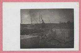 Belgique - KLERKEN - HOUTHULST - Carte Photo - Foto - Ruines - Soldats Allemands - Guerre 14/18 - 3 Scans - Houthulst