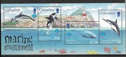 Timbres Neuf** Gibraltar 1998, BFn°32 Y Et T, Année Internationale Des Océans, Dauphin, Orque, Baleine Bleue - Gibraltar
