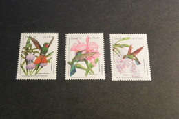 K14612- Set  MNH Brasil  1991- Hummingbirds - Hummingbirds