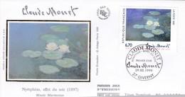 1999  -  FDC   - Claude Monet - 1990-1999