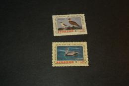 K14648- Set MNH Ecuador Airmail -1973- SC. C527-528- MI1614-1615 - Blue-footed Booby And Brown Pelican - Pelikane