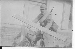 1916 Somme Sous Officiers Français Cycliste Avec équipement 1 Photo Ww1 1wk 14-18 - War, Military
