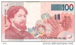 Belgique Belgie : 100 Francs ETAT NEUF - PAS PLIE - NIEUW - NIET GEPLOOID - Ensor - [ 2] 1831-... : Belgian Kingdom