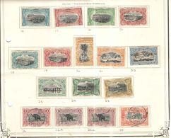 Congo Belga 1894/1900 Vedute Soggetti Diversi Scott.14/29  Nuovi/Usati See Scans - Belgisch-Kongo