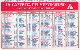 CALENDARIO TASCABILE - LA GAZZETTA DEL MEZZOGIORNO - Anno 1993 - Calendari