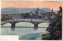 BASEL DIE DREI RHEINBRUCKEN - H. SUFFEL - GEBRUDER BERTSCHI - FROM BASEL TO MILANO - 15/05/1899 - BS Bâle-Ville