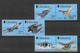 Timbres Neuf** Gibraltar 1999, N°883-88 Y Et T, Avions De La Royal Air Force Et Oiseaux De Proie, Faucons - Gibraltar