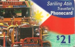 CARTE-PREPAYEE-AUSTRALIE-2002-SARILING ATIN TRAVELLERS -21$-CAMION- TBE- - Australie