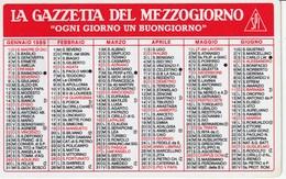 CALENDARIO TASCABILE - LA GAZZETTA DEL MEZZOGIORNO - Anno 1989 - Calendari