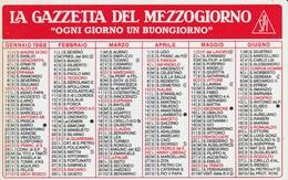 CALENDARIO TASCABILE - LA GAZZETTA DEL MEZZOGIORNO - Anno 1988 - Calendari