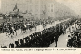 Postcard / ROYALTY / Belgique / Roi Albert I / Koning Albert I / Président Armand Fallières / France / Bruxelles 1911 - Personen