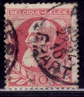 Belgium, 1905-11, King Leopold, 10c, Sc#85, Used - 1905 Grosse Barbe