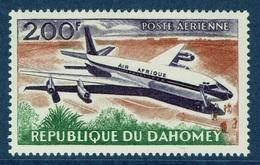 Dahomey (Benin), Airliner, Douglas DC-8, 200f., Air Afrique, 1963, MNH VF  Airmail - Benin - Dahomey (1960-...)