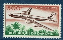 Dahomey (Benin), Airliner, Douglas DC-8, 500f., Air Afrique, 1963, MNH VF  Airmail - Benin - Dahomey (1960-...)
