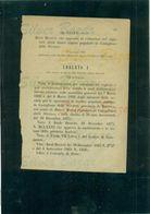 DECRETO UBERTO I°- BANCA MUTUA POPOLARE DI CASTIGLIONE DELLE STIVIERE-RIDUZIONE CAPITALE SOCIALE-1882 - Decreti & Leggi