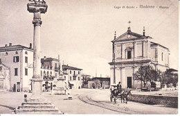 ITALIA - MADERNO - Piazza, Animata Con Calesse, Viag. B.1917, Lieveissima Piega - 2018 - 311 - Altre Città