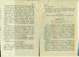 DECRETO UBERTO I°- 1879-BOZZOLO-CASTIGLIONE DELLE STIVIERE-ARCHIVI NOTARILI - Decreti & Leggi
