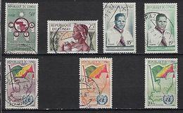 """Congo YT 135 à 141 """" Lot  7 Oblitérés """" 1959-61 Oblitéré - Congo - Brazzaville"""