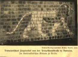Babylonisches Ziegelrelief Von Der Prozessionsstraße Nach Babylon / Druck, Entnommen Aus Zeitschrift / 1910 - Livres, BD, Revues