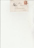 LETTRE AFFRANCHIE N° 23 -CAD PARIS 1867 -LETTRE ENTETE : THELIER ET HENROTTE- BANQUE - COTE : 20 € - Postmark Collection (Covers)