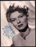 LARGE ORIGINAL PHOTO OF * JANE MORGAN ** FROM AROUND 1950 - DEDICATED - DEDICACEE - DEDICACE - RARE - Chanteurs & Musiciens