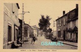 81 - Alban.- (Tarn) La Poste - Écoles Publiques - Mairie - (belle Animation : épicerie. Vieux Véhicule). - (voir Scan). - Alban