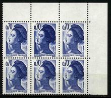 FRANCE - YT 2240a ** - LIBERTE 0,70f - VARIETE DOUBLE FRAPPE - TIMBRE NEUF ** DANS BLOC DE 6 - Variétés: 1980-89 Neufs