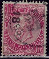 Belgium, 1883, King Leopold, 10c, Sc#45, Used - 1905 Thick Beard