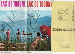 Lac De Thoune 1963 Dépliant Touristique Carte L. Koller + Liste Des Hôtels - Suisse Oberland Bernois - Schweiz - Dépliants Touristiques