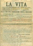 BRESCIA-RIVISTA-BOLLETTINO ASSOCIAZIONE MEDICA BRESCIANA-MEDICINA- 1904 - 12 PAGINEI - Testi Scientifici