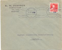 Enveloppe Kuvert - Pub Reklam -  K.W. Persson - Skovde  - Till Hagfors Sverige Zweden 1944 - Postal Stationery