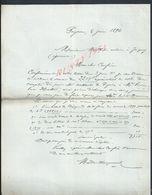 4 LETTRES DE 1896 DE MADIEN CHAMPVERNEL NOTAIRE À PEYRINS : - Manuscripts