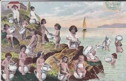 FANTAISIE---Bébés Multiples Pots De Chambre Au Bords De Mer--voir 2 Scans - Neonati